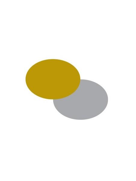 Etichette autoadesive oro e argento ovali in fogli A4