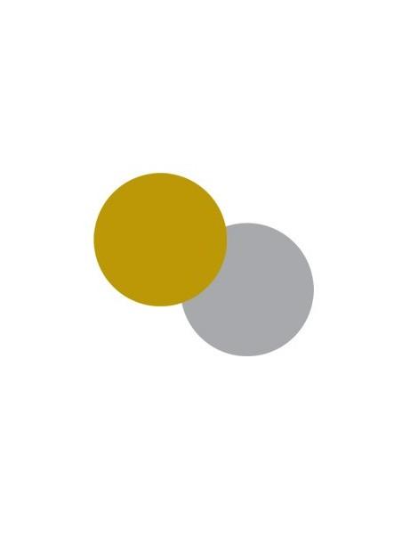 Etichette autoadesive oro e argento rotonde 36mm