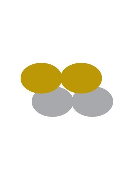 Etichette autoadesive oro e argento sagomate