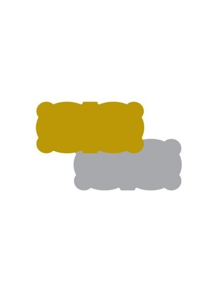 Etichette autoadesive oro e argento sagomate 45x21mm