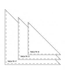 Tasca triangolare adesiva trasparente