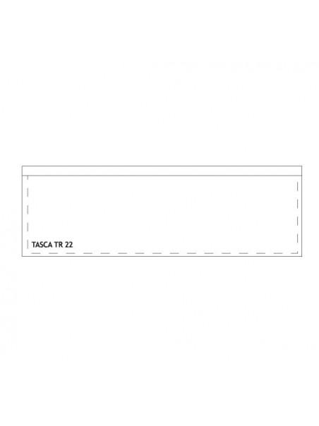 Tasca rettangolare adesiva trasparente