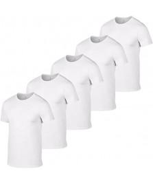 Gildan bianco confezione di 5 magliette