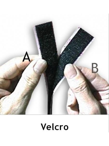 Velcro adesivo bianco da 20 mm a+b