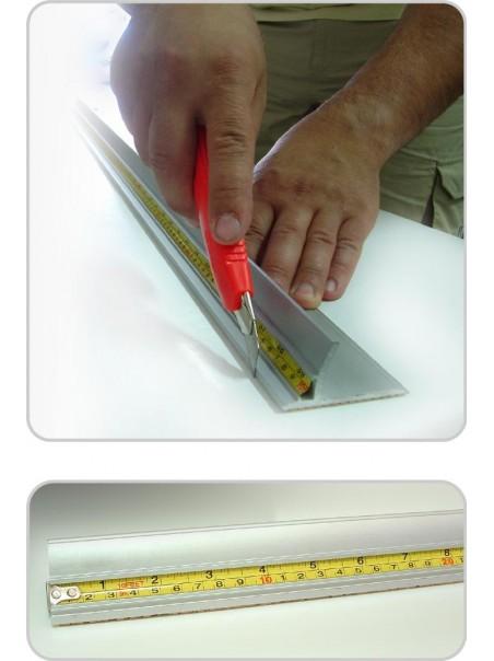 Barre lineari con riga metrica