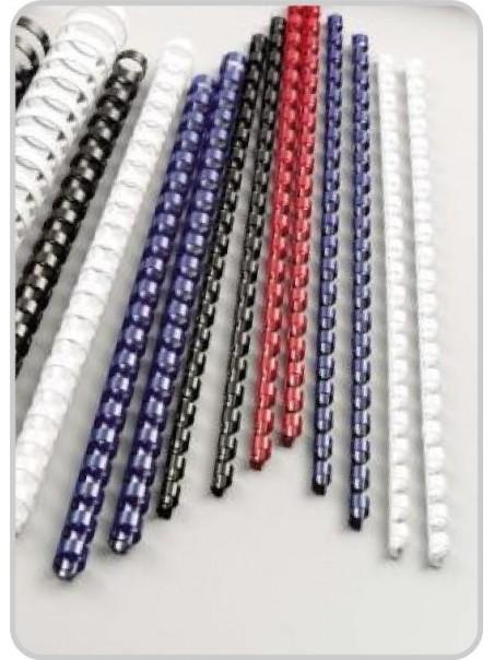 Dorsi in pvc con passo mm. 14,28 diametro mm. 6, vari colori