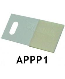 Appendino adesivo per pannelli da 55 x 25 mm. - Conf. da 100 pez