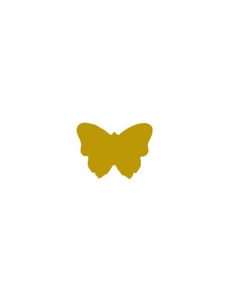 Etichette autoadesive oro farfalla