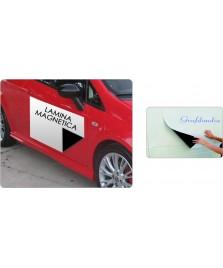 Lamina magnetica bianca per applicazioni su automezzi