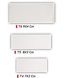 Targhetta rettangolare per premiazioni - Colore argento