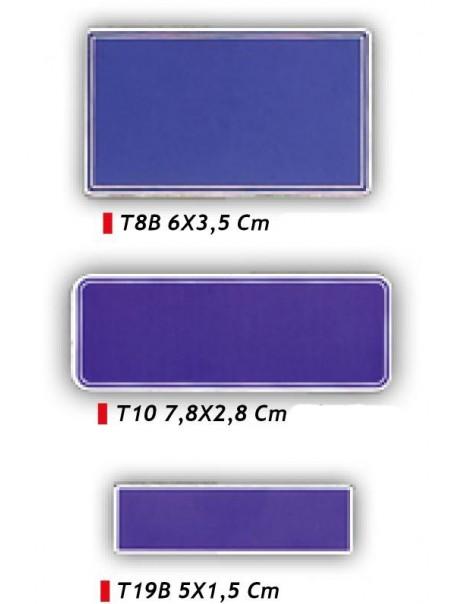Targhetta rettangolare per premiazioni - Colore blu