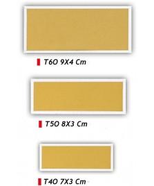 Targhetta rettangolare per premiazioni - Colore oro