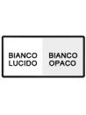 Bianco lucido/opaco