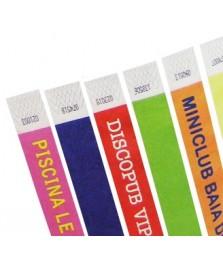 Braccialetti in tyvek stampabili in serigrafia