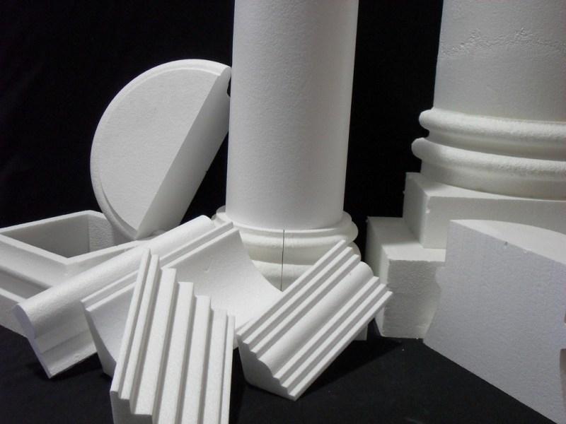 Taglierine a schiuma CNC a filo caldo - Esempio di taglio a schiuma - Elementi architettonici